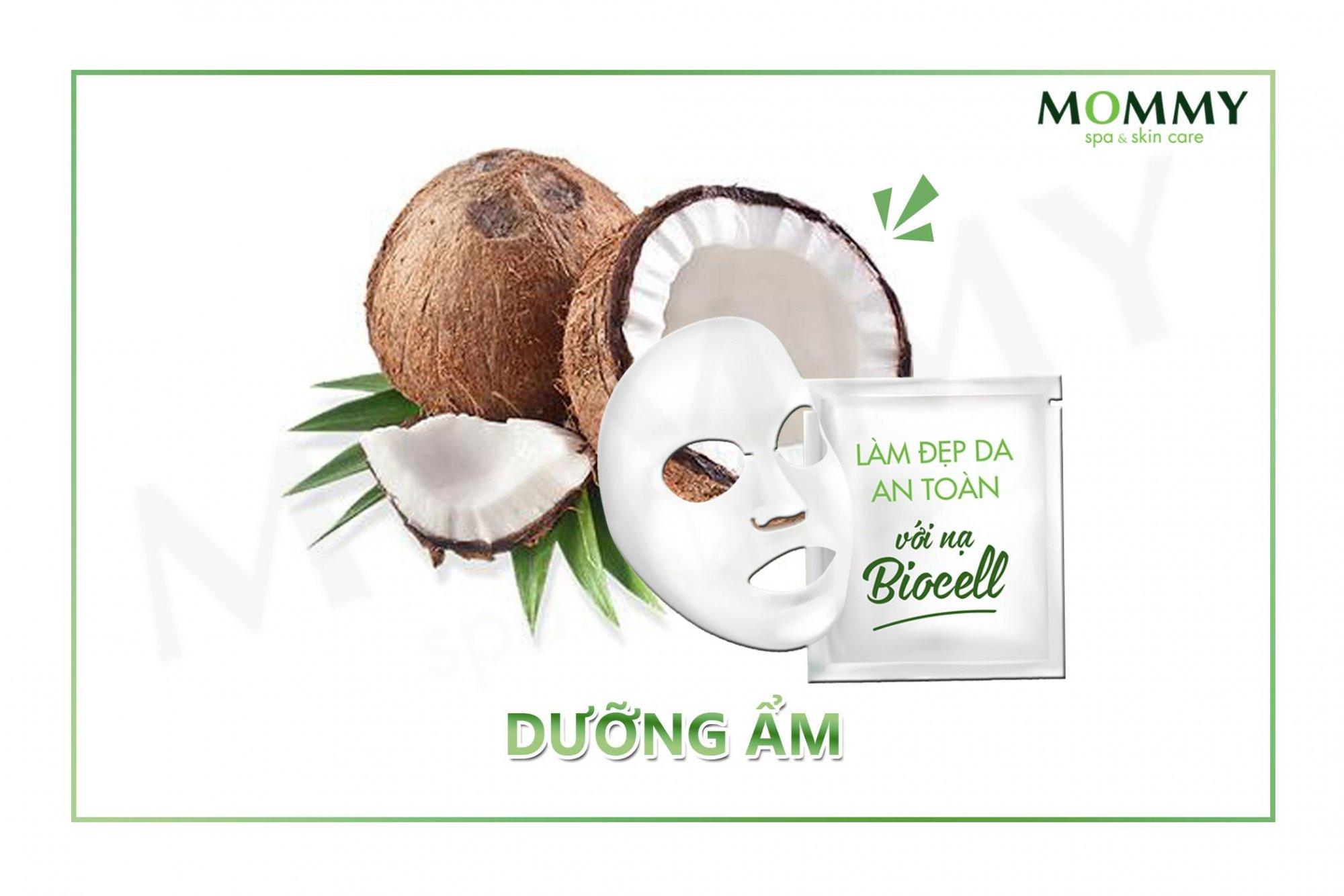 Chăm sóc da với nạ sinh học dừa Biocell Hydrating